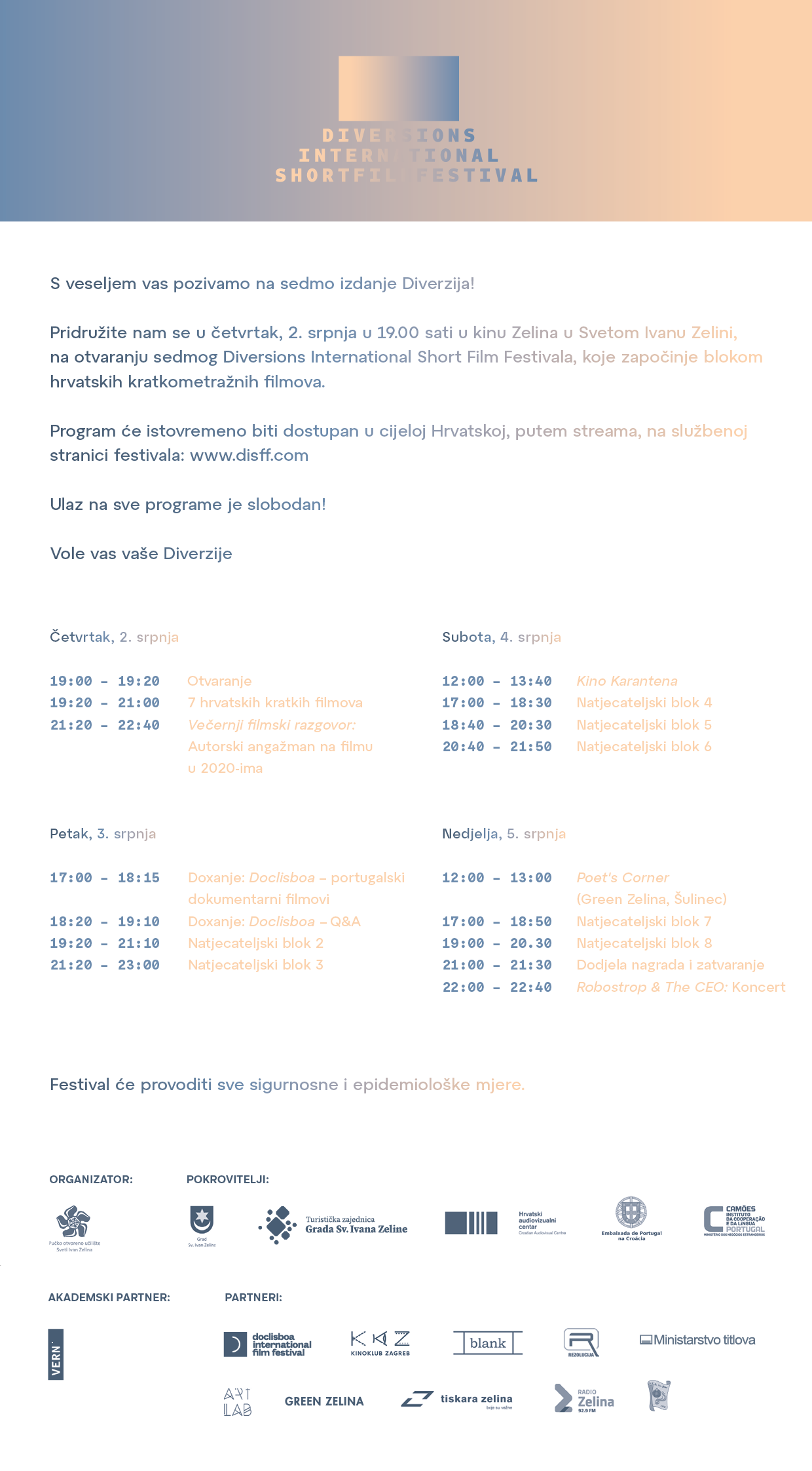 Diversions International Short Film Festival program