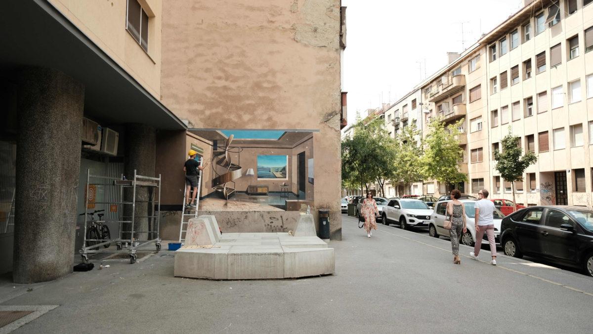 Igor Taritas mural of Martic