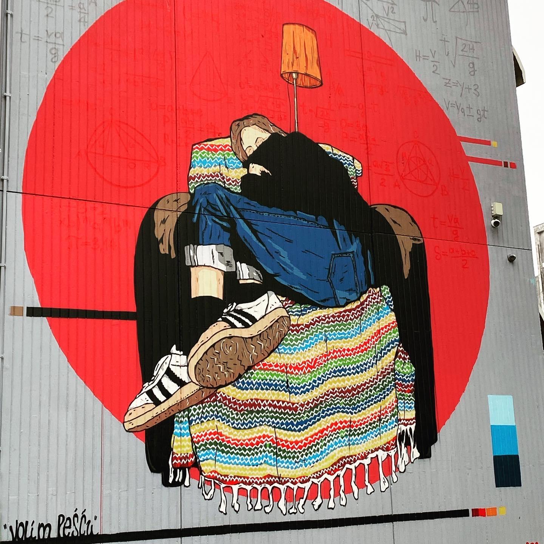 Volim Pešću 2020, Boris Bare mural Zagreb